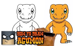 How to Draw Agumon | Digimon (Art Tutorial)