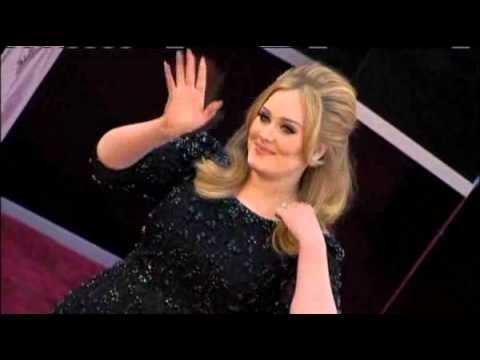 Adele - Red Carpet At The Oscar 2013