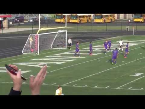 Kahlenbeck Free Kick Goal - LN Soccer - Regional Game 10-15-15