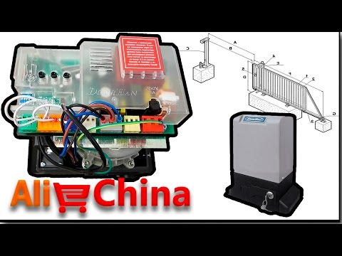 Распаковка и настройка привода для ворот, мотор для откатных ворот Sliding 1300