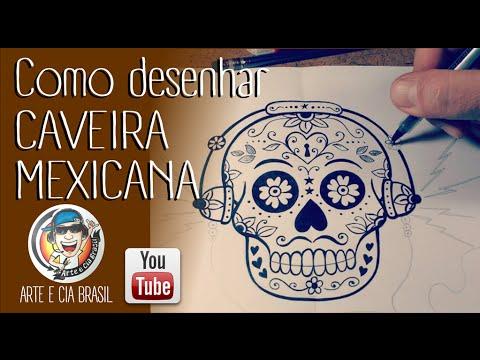 Como Desenhar Caveira Mexicana Passo A Passo Youtube