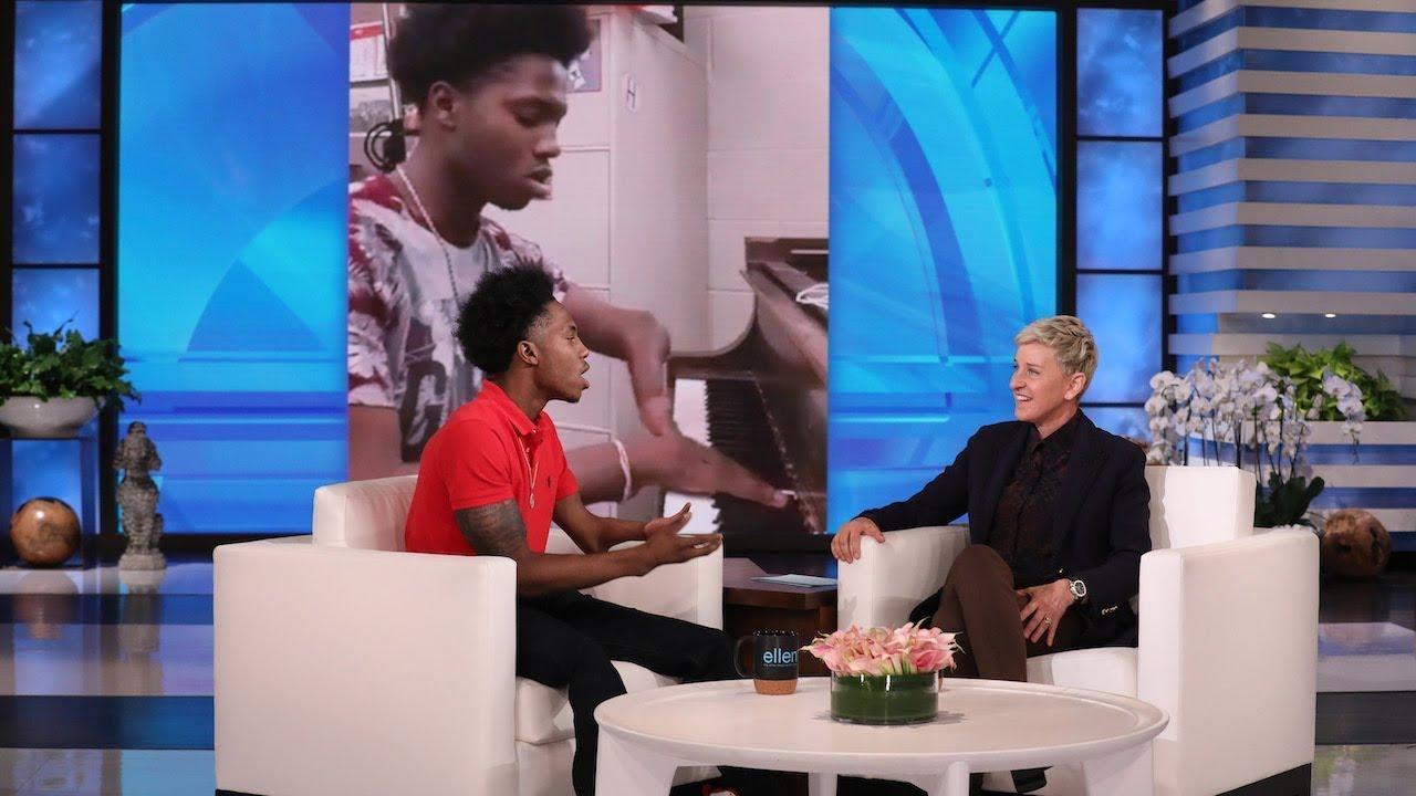Ellen Meets Inspirational Piano Player