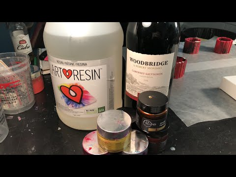 Using WINE as a resin tint - will it work? 😳🧐🤔