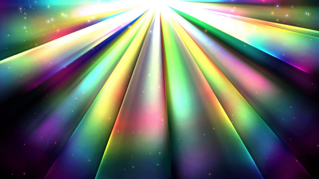 4k 2160p Rainbow Sun Rays Motion Background Youtube
