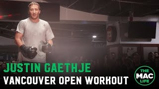 Justin Gaethje Open Workout | UFC Vancouver