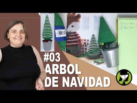 ARBOL DE NAVIDAD TEJIDO A CROCHET 03 pino navideño amigurumi