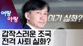[여랑야랑]갑작스러운 조국 전격 사퇴…실화의 배경 | 뉴스A