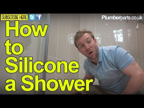 How To Silicone A Shower Tray Repair Sealant Plumbing Tips Youtube