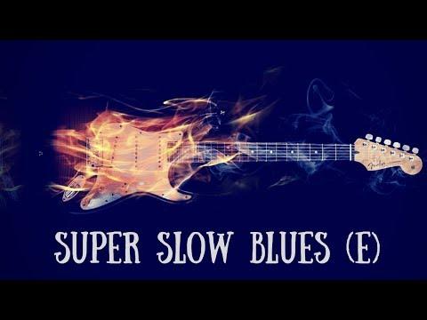 Super Slow Blues Jam | Sexy Guitar Backing Track (E)