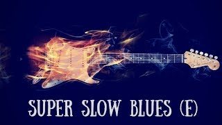 Super Slow Blues Jam | Sexy Guitar Backing Track (E)