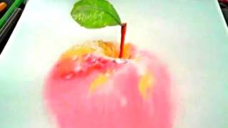 3d draw..how to draw Apple and Peach