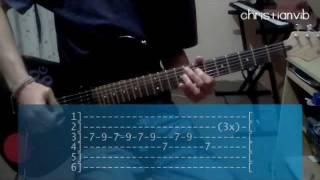 """Cómo tocar """"No me destruyas"""" de Zoé en Guitarra / Tutorial - Christianvib"""