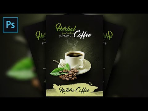 How to Make a Herbal Coffee Poster In Photoshop