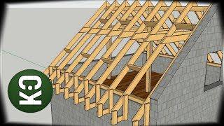 ⚫ План строительства двускатной крыши