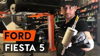 Kako zamenjati filter goriva na FORD FIESTA 5 (MK6) [VODIČ AUTODOC]