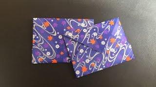 Origami Envelope 1 信封 摺紙教學