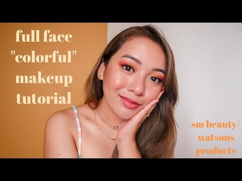 FULL FACE COLORFUL MAKEUP TUTORIAL (SM BEAUTY/WATSONS PRODUCTS) | Philippines thumbnail