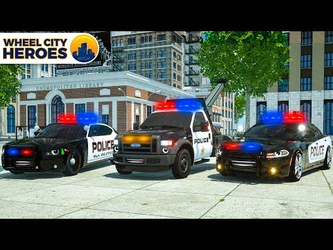 Catching Race Cars in Construction | Sergeant Lucas the Police Car | Wheel City Heroes Cartoon