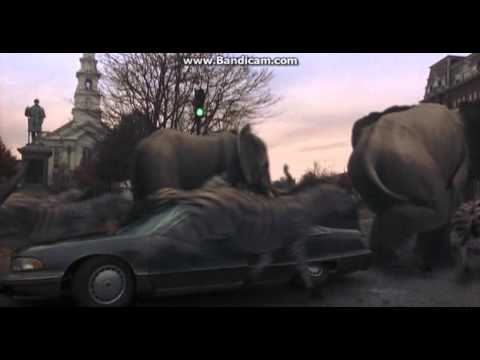 Jumanji Stampede Car Crash Scene Youtube