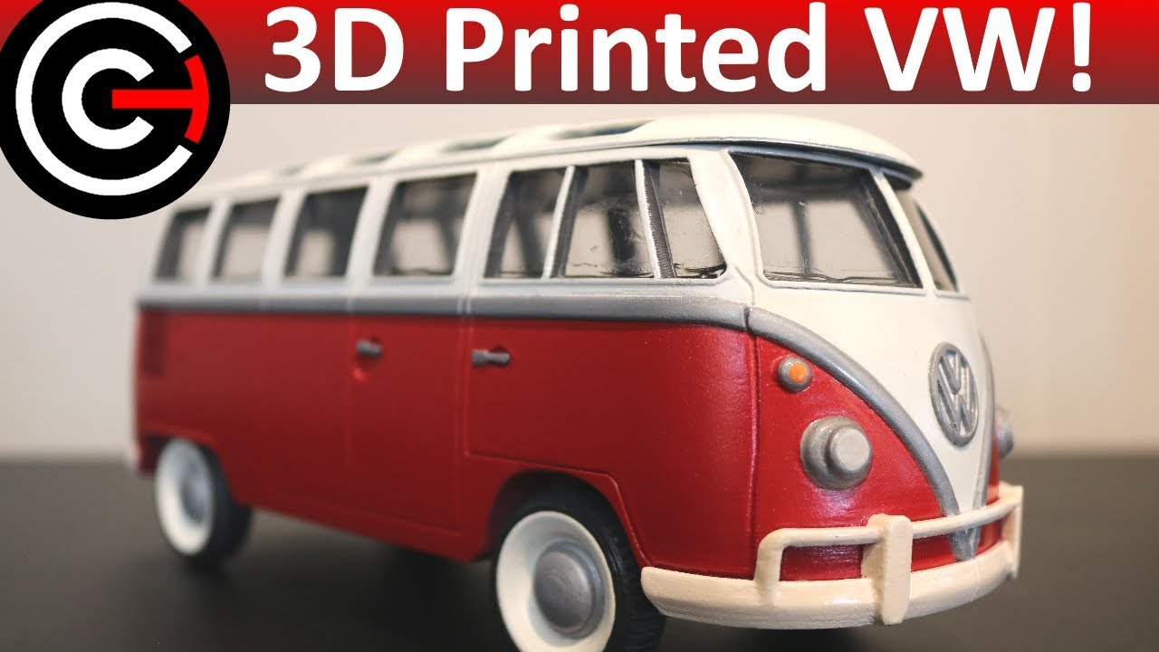 3D Printed Model Car! - Volkswagen Bus
