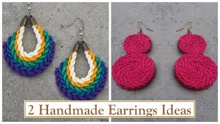 2 Handmade Earring Ideas | DIY | How To Make Thread Earrings At Home | Creation&you