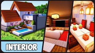 Cara Membuat Interior + Dekorasi Rumah Modern #38 ! || Minecraft Modern Pt.39