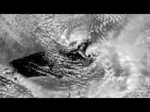Severe Storms Over Lake Ontario NOAA GOES Satellite Footage - Satellite footage