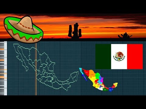 Musical map of Mexico - midi art [drawing]