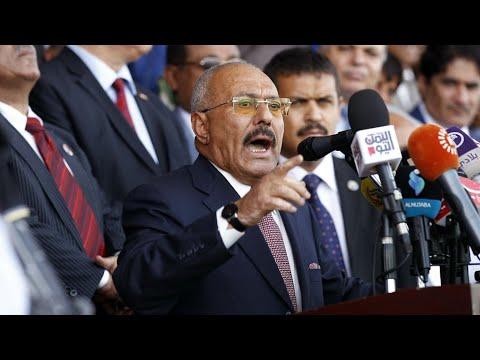 Yemen: Portrait of former president Ali Abdullah Saleh