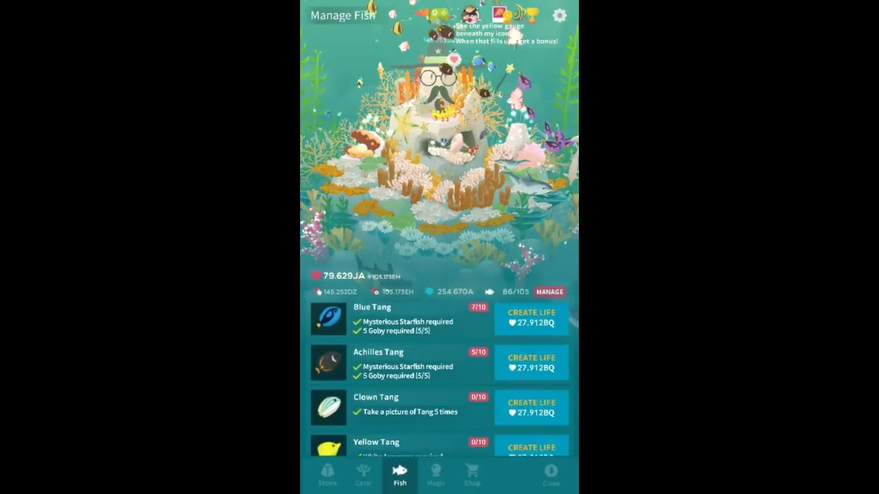 tap tap fish abyssrium naso tang youtube