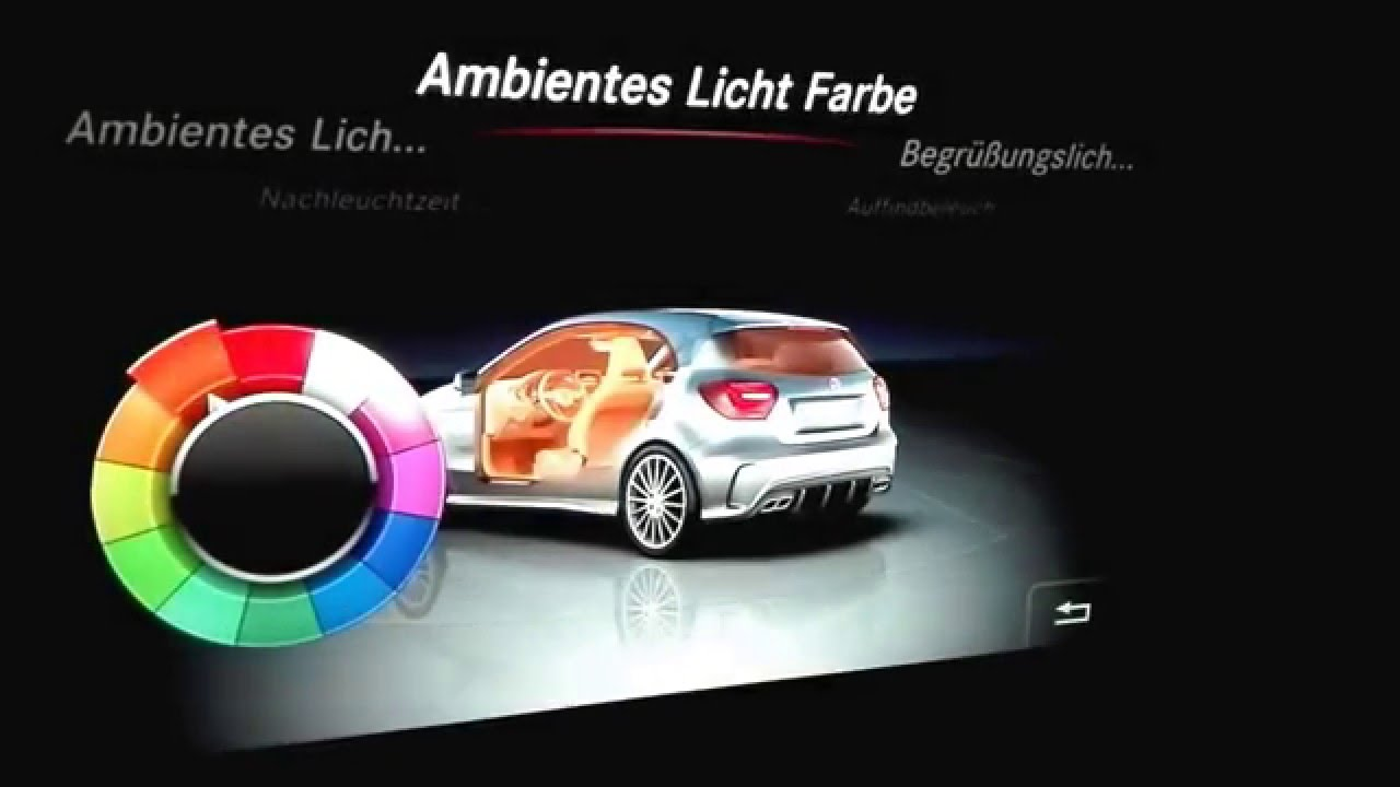 a 45 amg facelift ambiente beleuchtung youtube. Black Bedroom Furniture Sets. Home Design Ideas