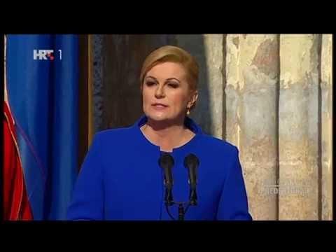 Prisega Inauguracija predsjednice RH Kolinde Grabar Kitarović 15.2.2015