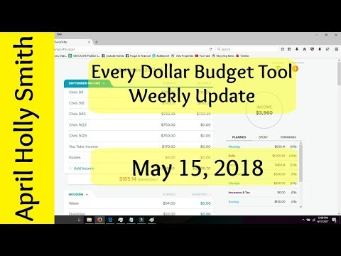 Every Dollar Budget Update   5/15/2018  Baby Step 3  April Holly Smith