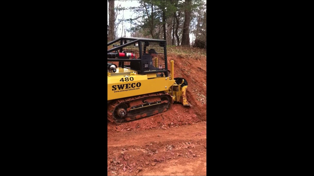sweco 480 trail dozer at the ptba show 2011