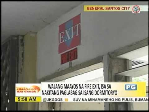 UKG Live Report: BFP inspects boarding houses, dormitories in GenSan
