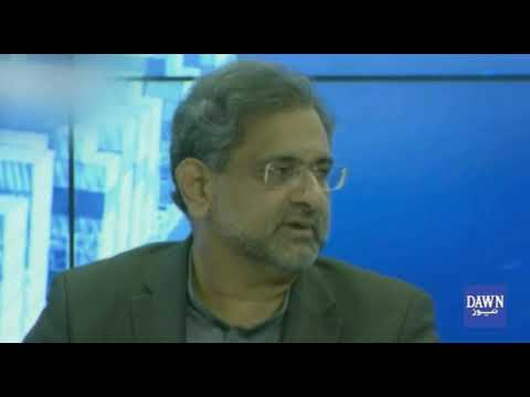 Prime minister Shahid Khaqan Abbasi speaking in Davos Conference