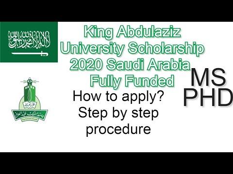 King Abdulaziz University Scholarship 2020 Saudi Arabia Master PhD Fully Funded