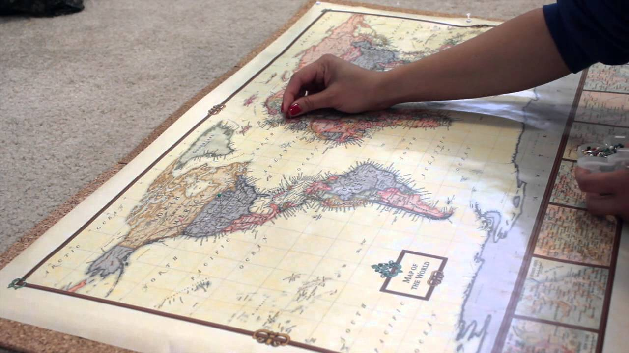 DIY PIN YOUR TRAVEL MAP YouTube – Maps To Pin Your Travels