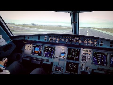 A320NEO Cockpit! Pushback, Taxi and Take Off from Copenhagen Airport on SAS Scandinavian Airlines