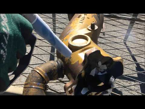 Marine Exhaust Manifold Cleaning - IS 75S BLASTER - Dry Ice Blasting