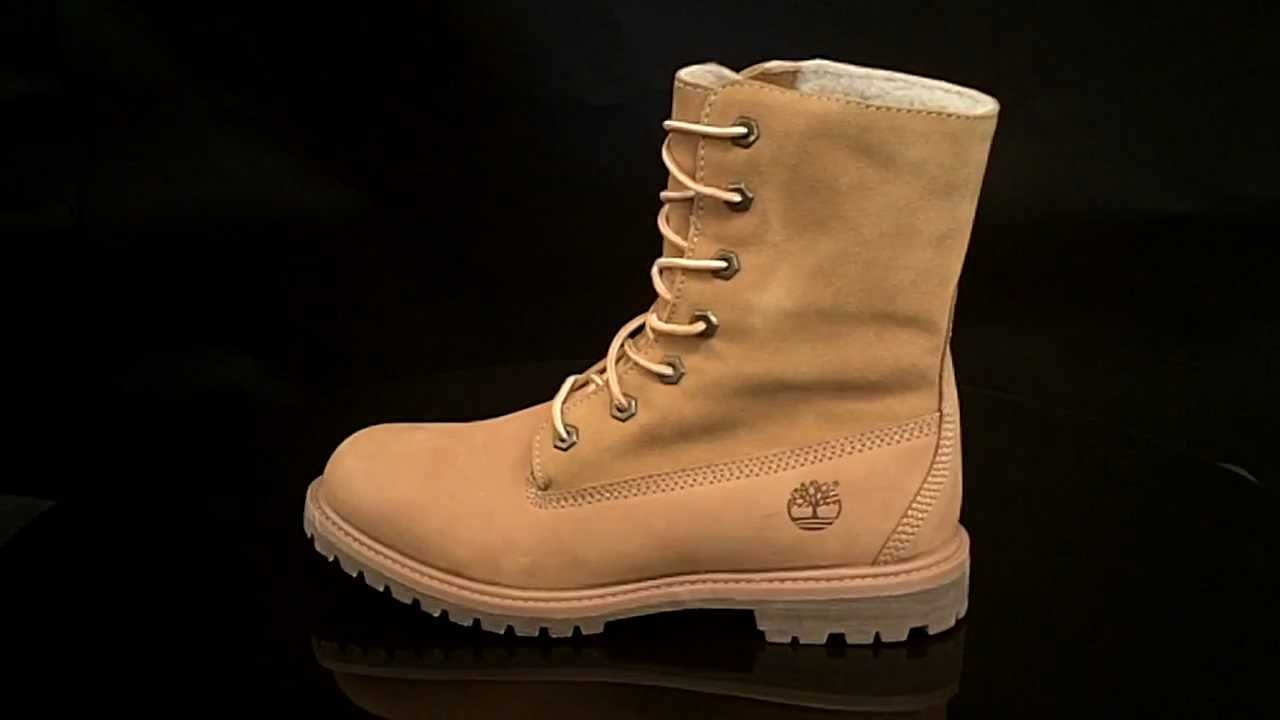 c91f014bf08 Timberland Authentic Teddy fleece Fold Down Boot Wmns Wheat Nubuck 3825R
