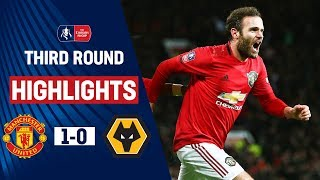 Mata's Cool Finish Puts United Through | Manchester United 1 0 Wolves | Emirates Fa Cup 19/20