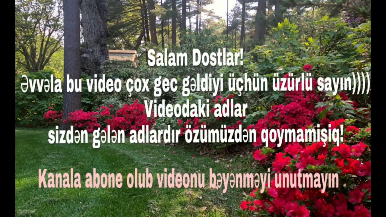 Azərbaycan Qiz Adlari 2018 60 ədəd Youtube