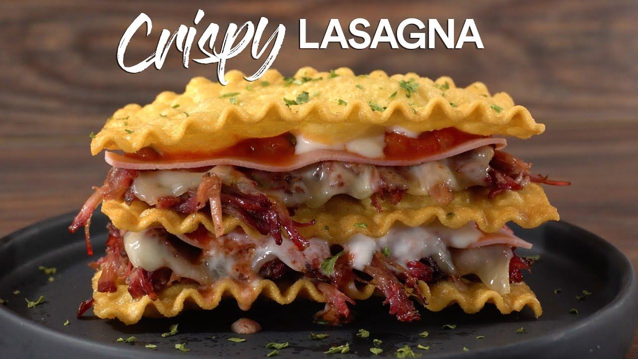 Short Ribs CRISPY Lasagna, WOW!