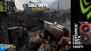 Call Of Duty WWII PC Maximum Settings 3440x1440 | GTX 1080Ti | i7 5960X 4.3GHz