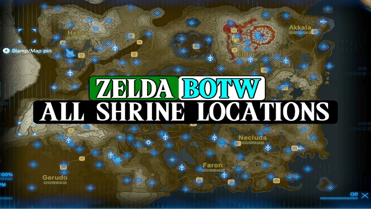 Zelda BOTW: ALL 120 Shrine Locations And Guides