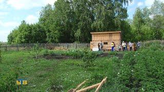Многодетная семья из с. Емуртлы с помощью единоросов построила пригон для домашнего скота.