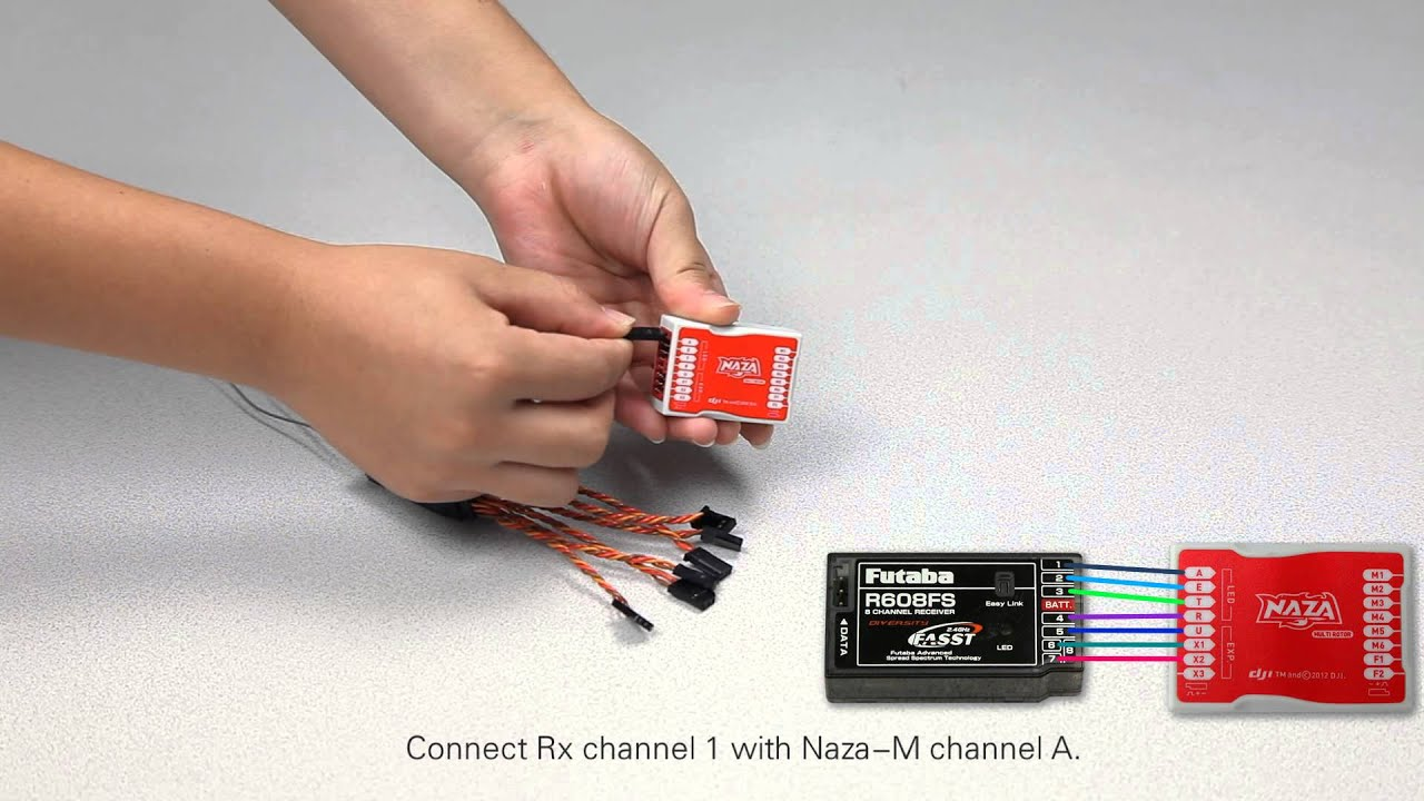 dji naza m main controller traditional receiver connection youtube rh youtube com dji naza wiring diagram naza m wiring diagram