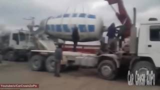 Heavy Equipment Accidents Caught On Tape, Excavator Loading Fail, Excavator Accident Videos