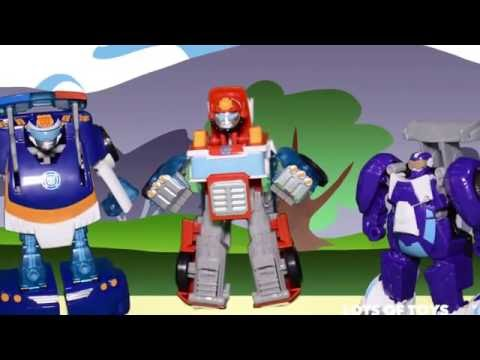 Transformers Rescue Bots Blurr, Bumblebee Robot to Race Car and Surprises Compilation